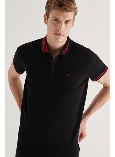Avva Erkek  Polo Yaka Tişört A11Y1037 Siyah